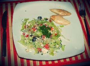 Salada de ricota com quinua
